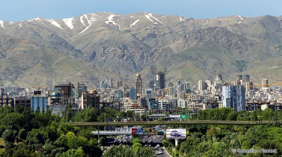 Iran, Teheran, p[ółnocna panorama miasta - zdjęcia z podróży