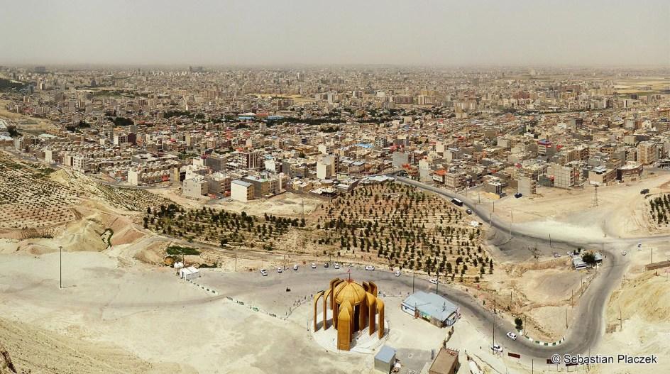 Iran, panorama miasta Kom - foto, zdjęcia z podróży