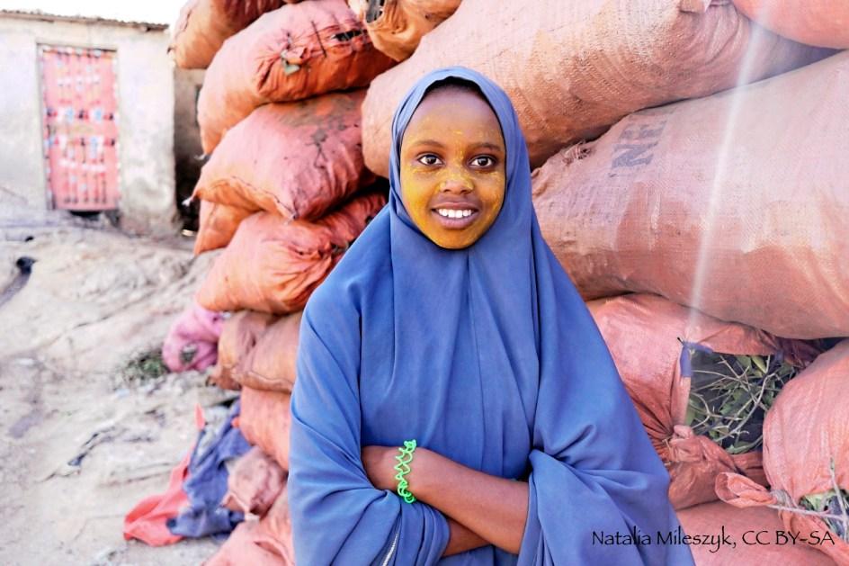 Etiopia, Aweday w muzułmańskiej cześci Rtiopii. Muzułmańska dziewczyna