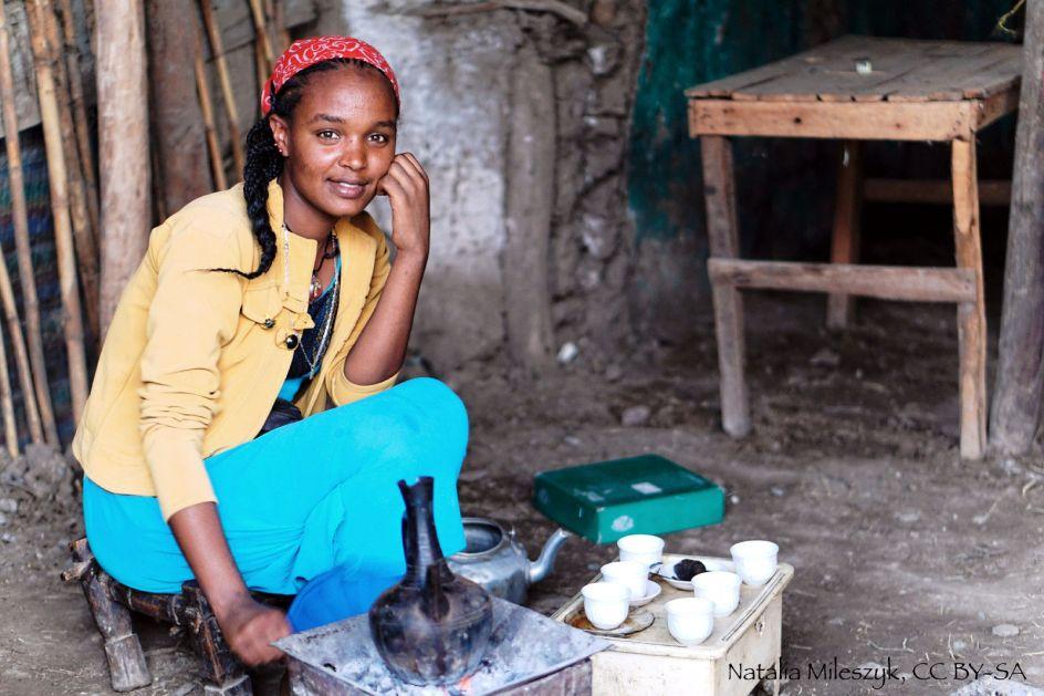 Etiopia, zdjęcia z podróży, ceremonia parzenia kawy