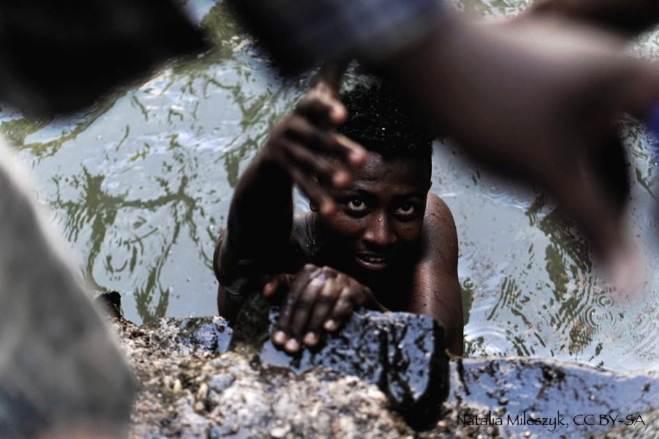 Etiopia, portret mężczyzny, święto Timkat