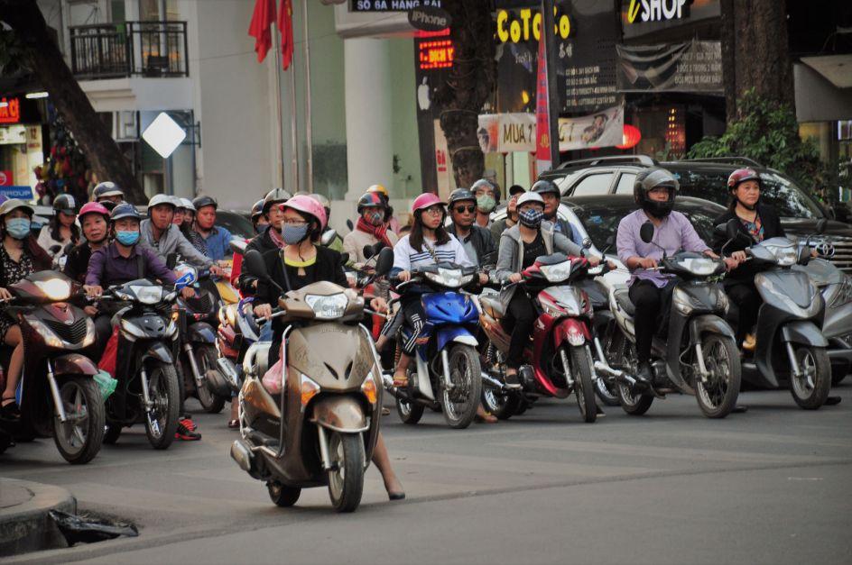 Wietnam, Hanoi, ruch uliczny na ulicach, Azja, podróże