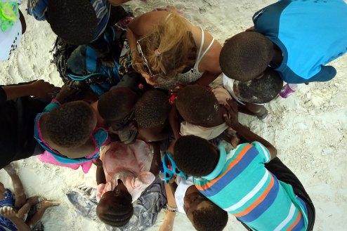 Matemwe na Zanzibarze, dzieciaki i biały mzungu, podroz