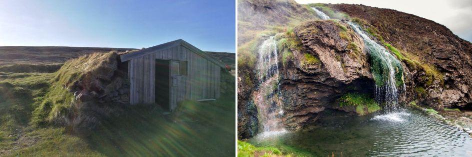 Geocaching, Islandia, ukryta chatka i gorące źródło