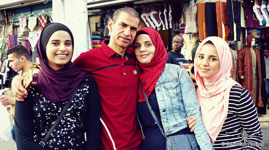 Jordania, mieszkańcy Ammanu, zdjęcia z podróży