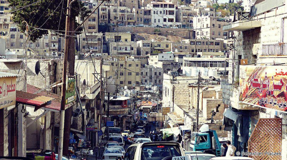 Jordania, Amman, panorama centrum stolicy, zdjęcia z podróży