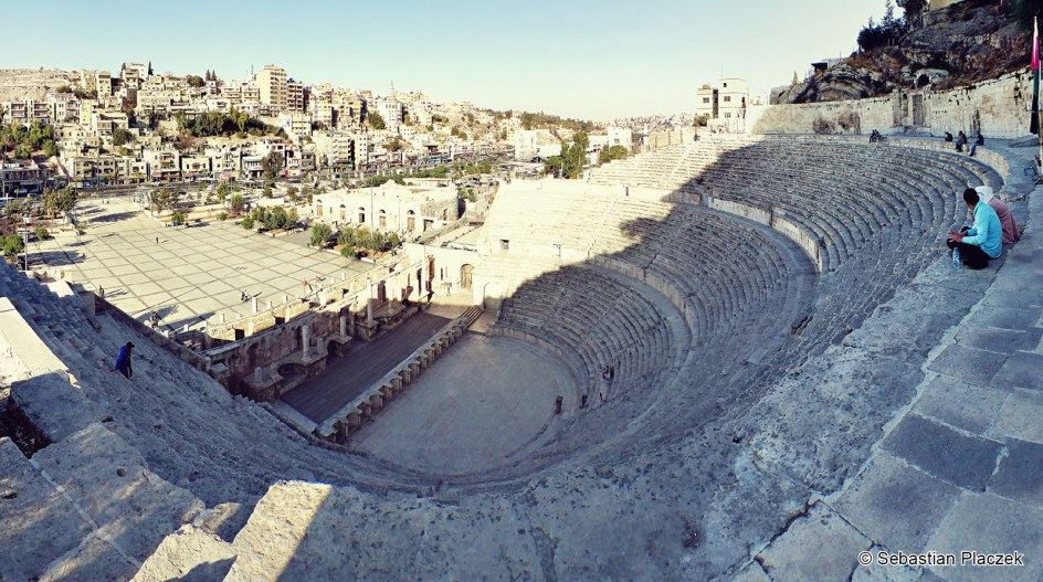 Jordania, Amman, amfiteatr z II wieku, ruiny