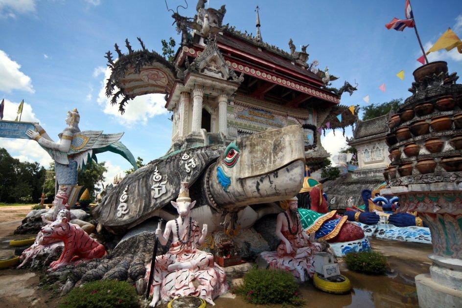 Świątynia Wat Pa Non Sawan w Tajlandii, zdjęcia z podróży