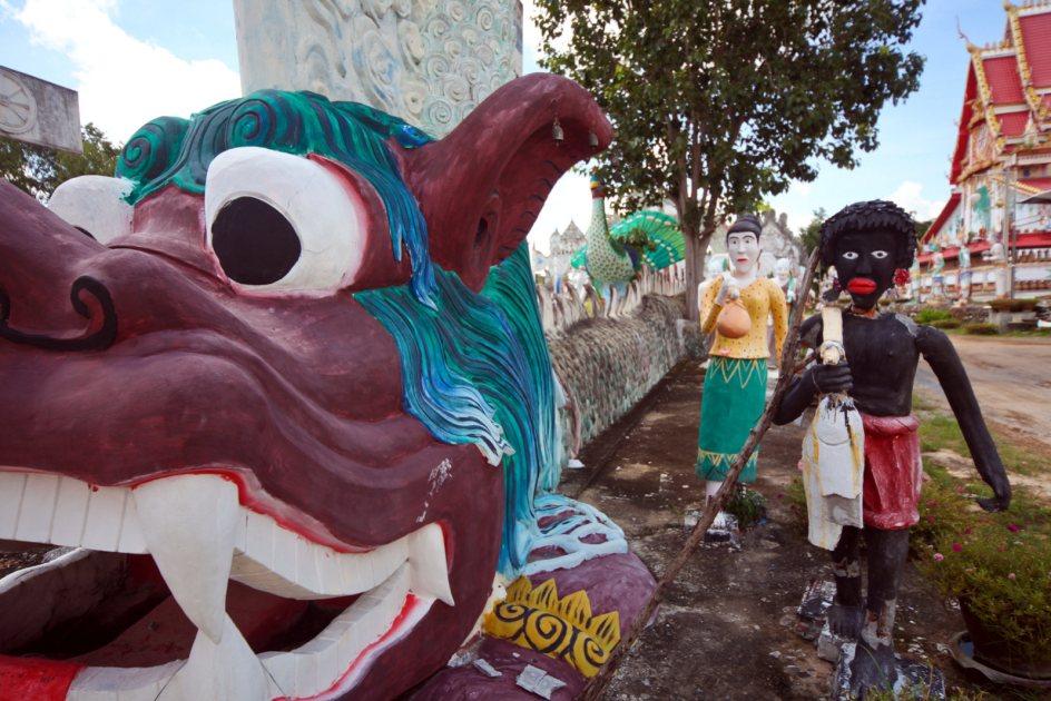 Zdjęcia z Tajlandii, Wat Pa Non Sawan, podróż