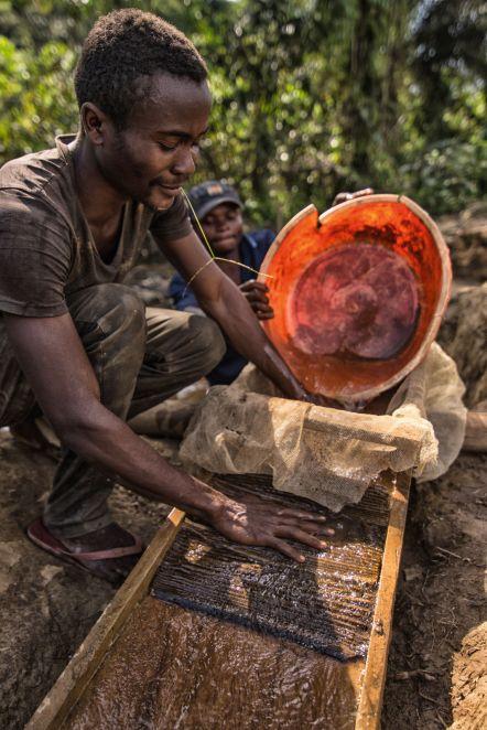 Kongo, płukanie złota
