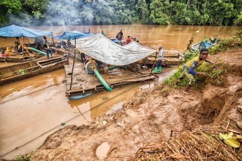 Kongo, poszukiwanie złota