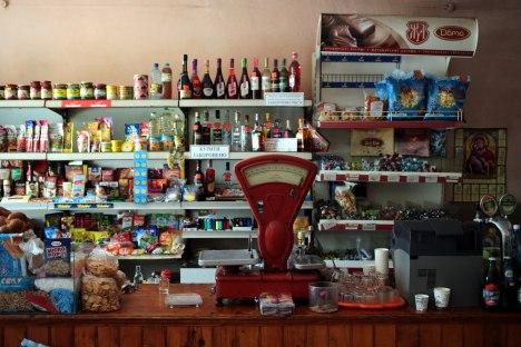 Ukraina, Zakarpacie, sklep na wsi
