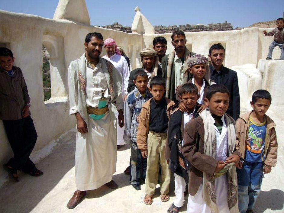 Jemen, Sana, zdjęcie Jemeńczyków z dziećmi, podróże