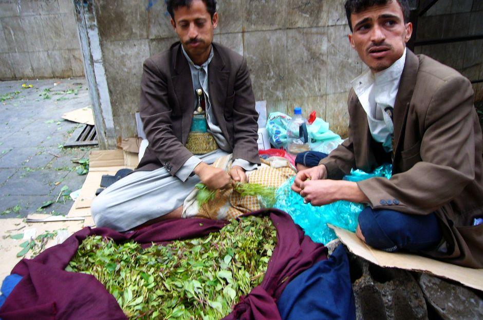 Jemen, Sana, sprzedawcy quatu