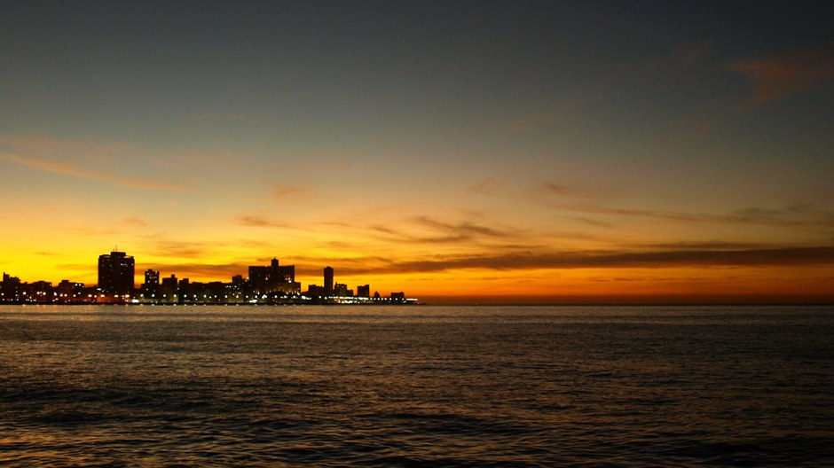 Kuba, Hawana, zachód słońca, zdjęcia , podróże