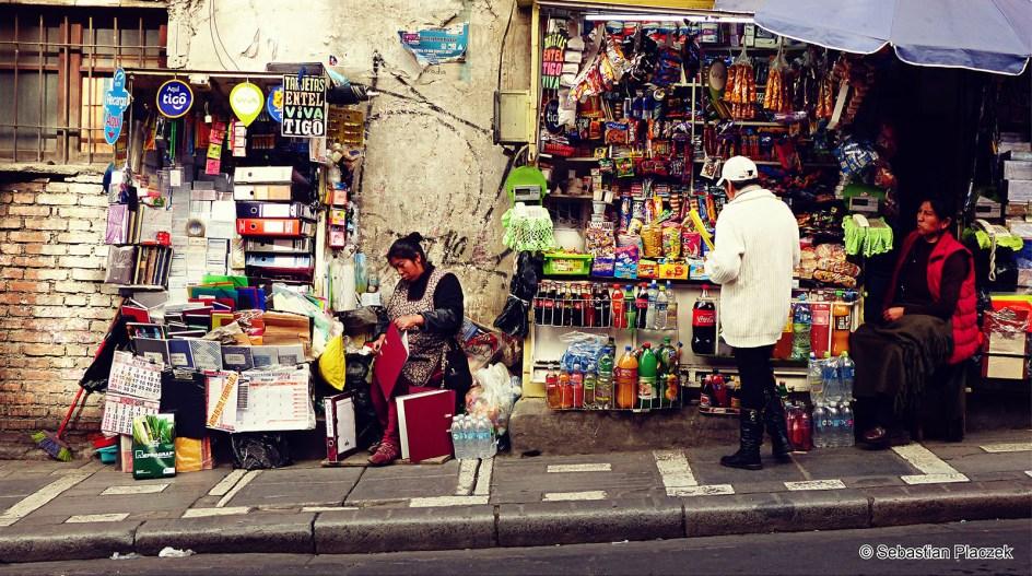 Boliwia, Sucre, handel uliczny, street photo