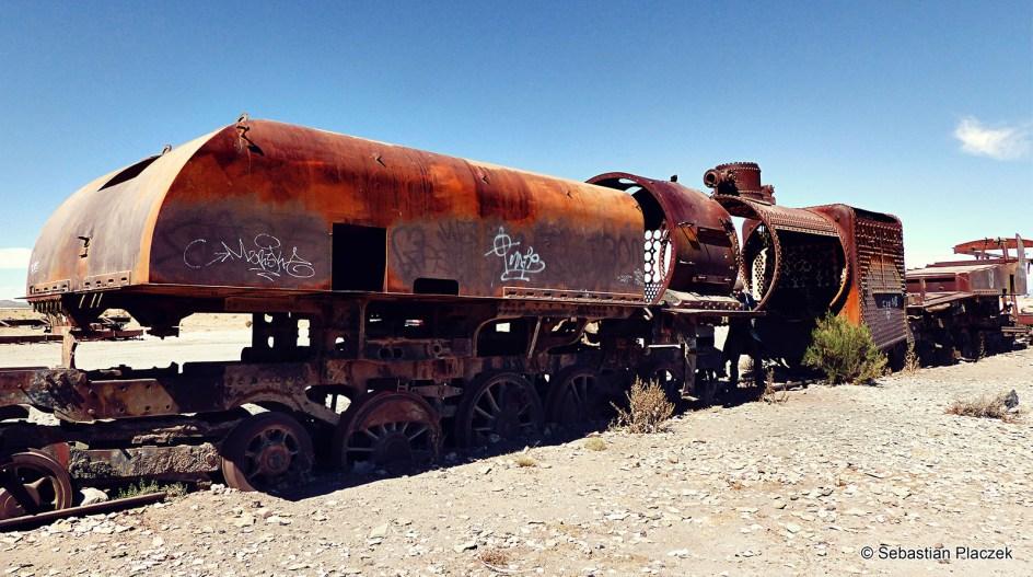 Ameryka Południowa, turystyka, podróż Boliwia, cmentarzysko pociągów, Uyuni