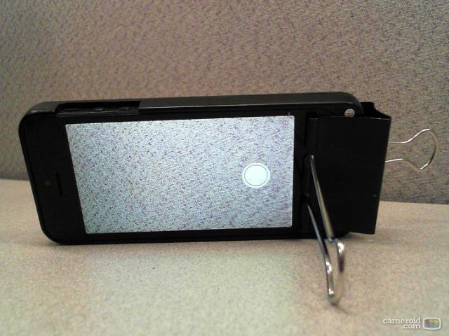 iPhone held sideways