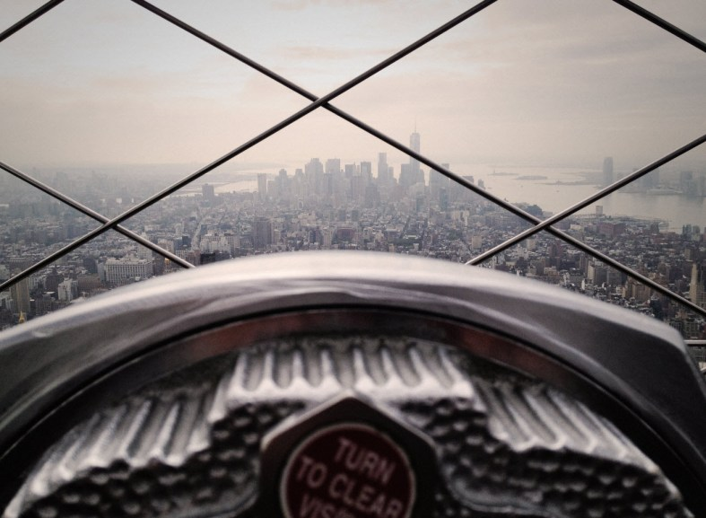 NYC through a window