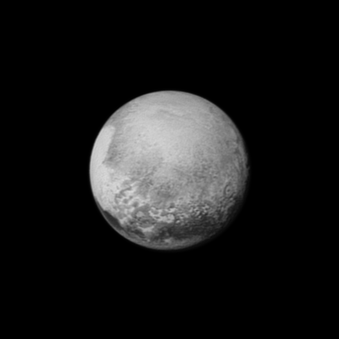 Image of Pluto from New Horizon probe