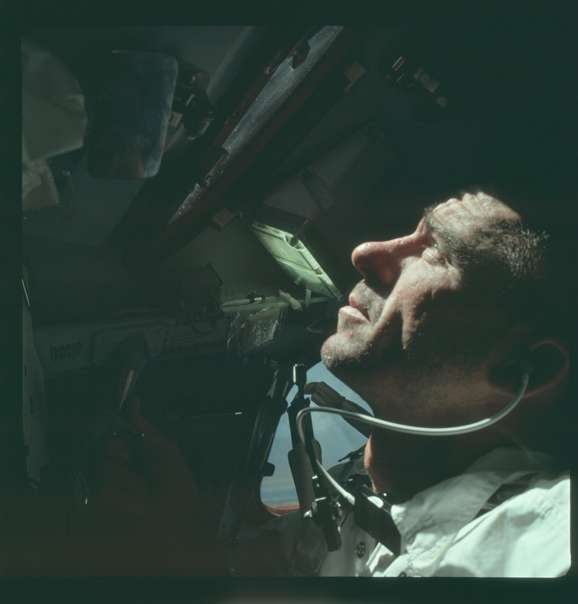 Apollo 7 Hasselblad image from film magazine 4/N - Earth Orbit - https://www.flickr.com/photos/projectapolloarchive/21322829193/in/album-72157657129869694/