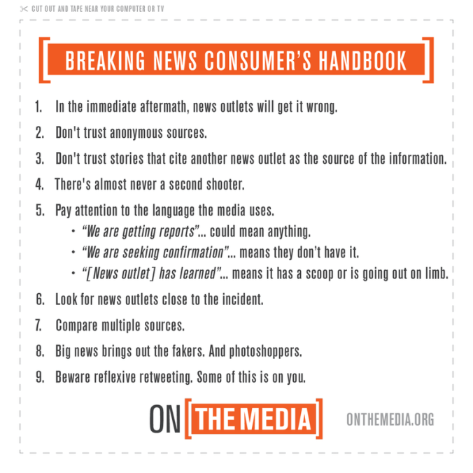 Breaking News Consumer's Handbook - Active Shooter Edition