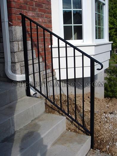Perpetua Iron Simple Railing Page 2 | Tubular Stair Railings Design | Simple | Grill Work | Residential Industrial Stair | Welded | Stair Case Railing