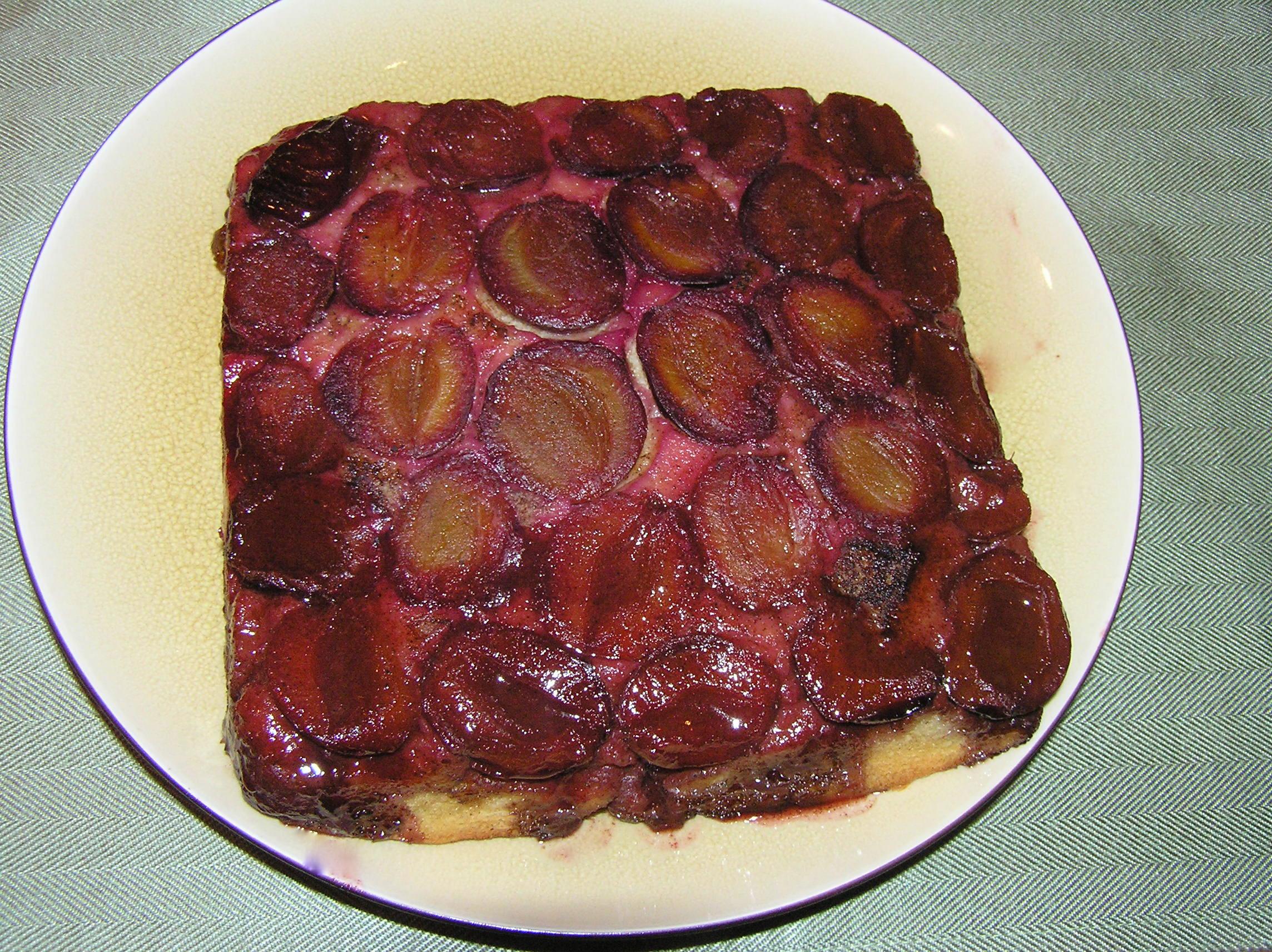 plum upsidedown cake
