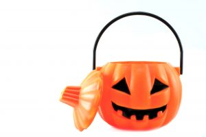 scary halloween's plastic pumpkin
