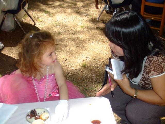 Princess Vivian being interviewed