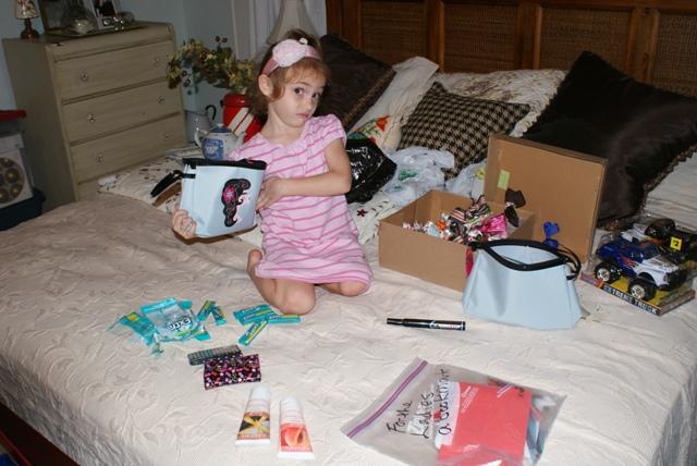 vivian helping pack boxes