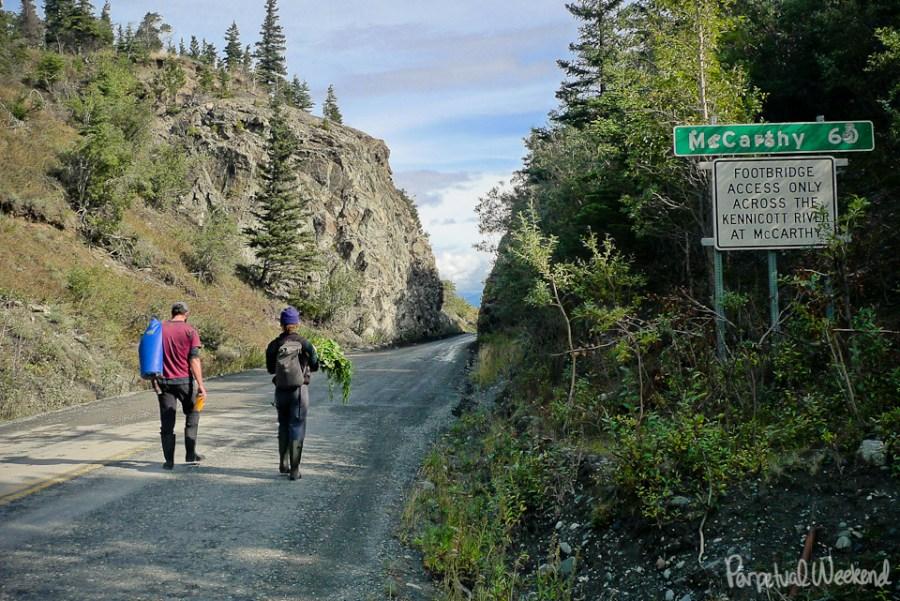chitina mccarthy alaska hiking produce