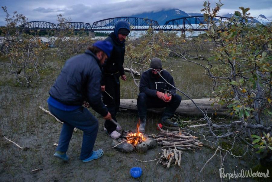 milliion dollar bridge campsite alaska