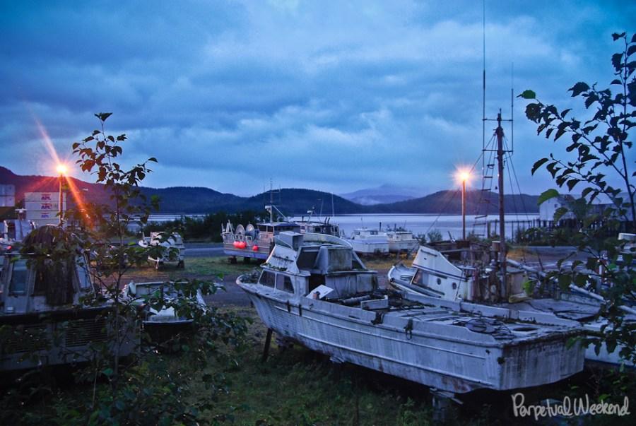 cordova alaska boat dock wharf salmon gill net