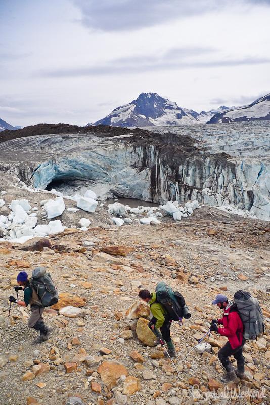 tana glacier bridge, wrangell st elias, alaska