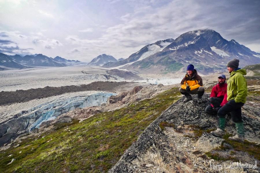 tana glacier planning, wrangell st elias, alaska