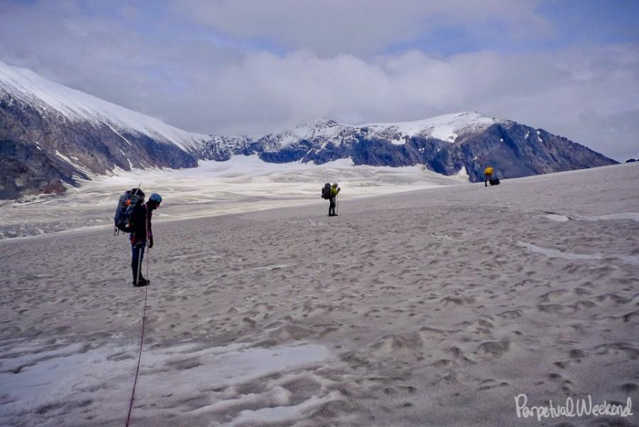 fresh snow, granite range, alaska