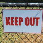 keep-out-sign