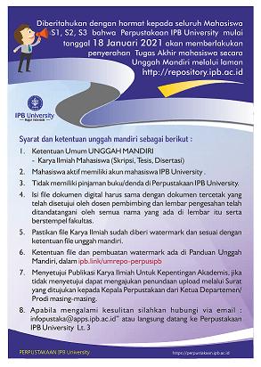 Unggah Mandiri Repository IPB