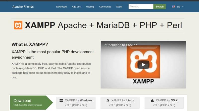 menggunakan xampp untuk coding