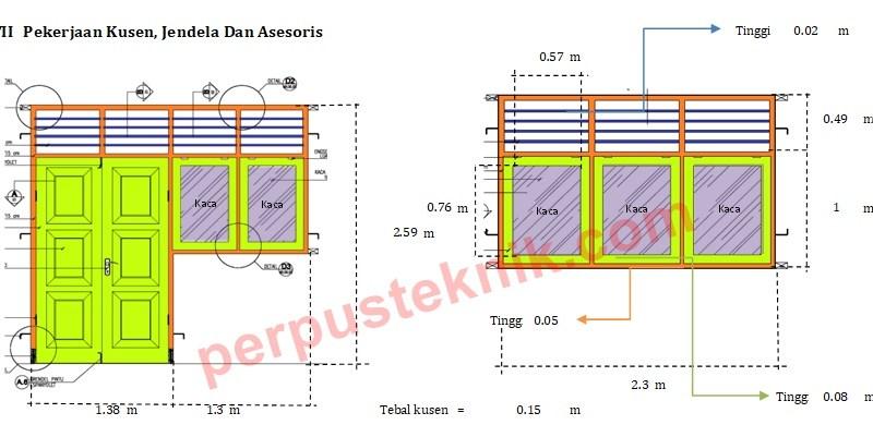 Cara menghitung kebutuhan material pintu dan jendela kayu