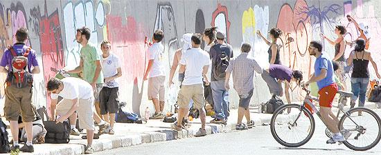 Construção do mural na 23 de Maio (12/09/09) por Moacyr Lopes