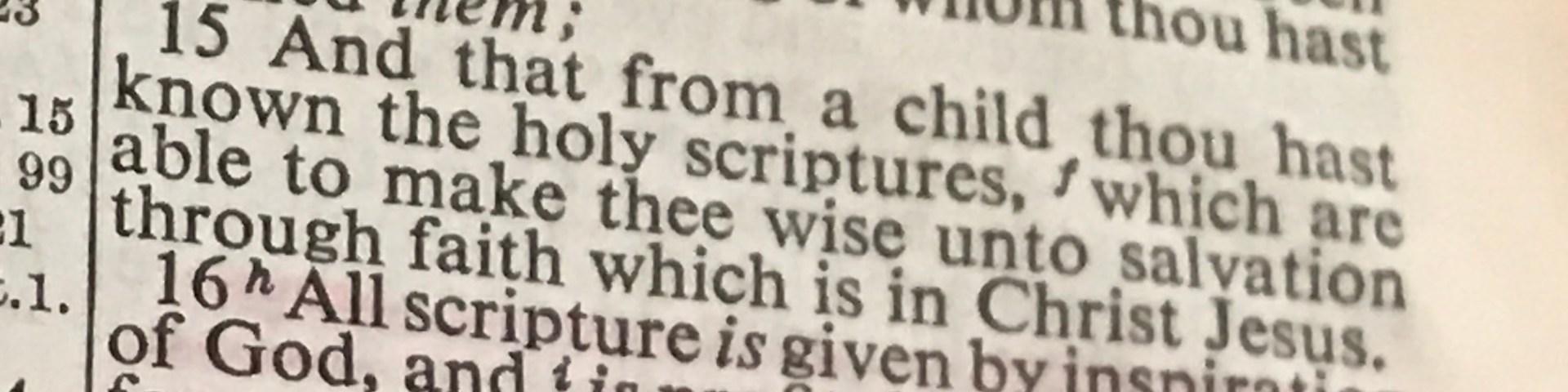 2 Timothy 3:14-17 KJV