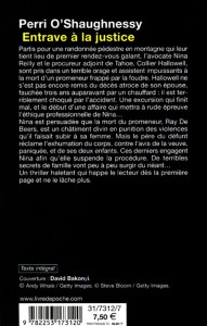 Obstruction of Justice French Edition Paperback Back