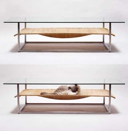 Mesa con hamaca incorporada perros - Cama con mesa incorporada ...