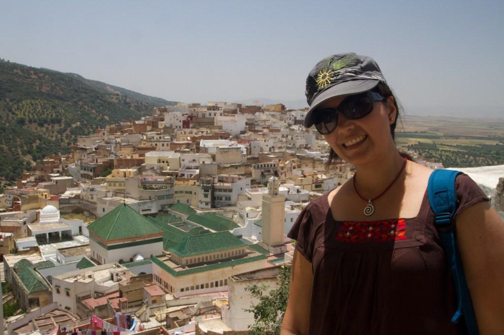 Vista del Mausoleo de Idriss I desde la petite terrasse - Moulay Idriss, Marruecos