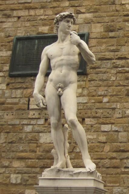 El David en la Piazza della Signoria