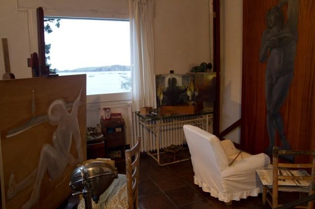 El estudio de la casa de Dalí en Portlligat, Cadaqués