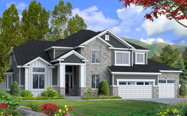 Willow floor plan designed by Perry Homes Utah.