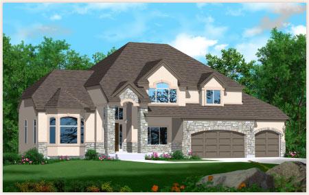 Chapman floor plan custom designed by Perry Homes Utah.